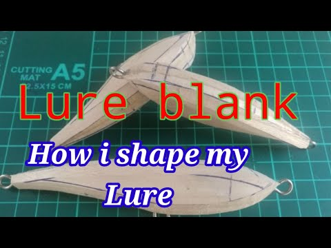 LURE BLANK] [HOW I SHAPE MY LURE] [HANDCRAFTED LURES]