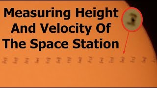Using Cameras To Measure The Real Altitude Of The Space Station