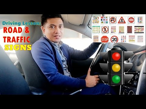 Driving Lesson: Road and Traffic Signs (Tagalog)