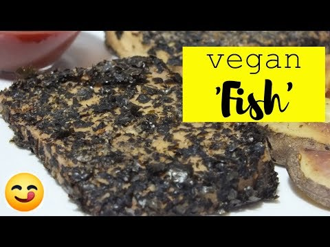 VEGAN 'FISH' FILLETS: QUICK & EASY RECIPE!😋 Plant Based Oil Free Cooking With Tofu