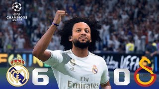 Recreación Real Madrid 6-0 Galatasaray Uefa Champions League 2019