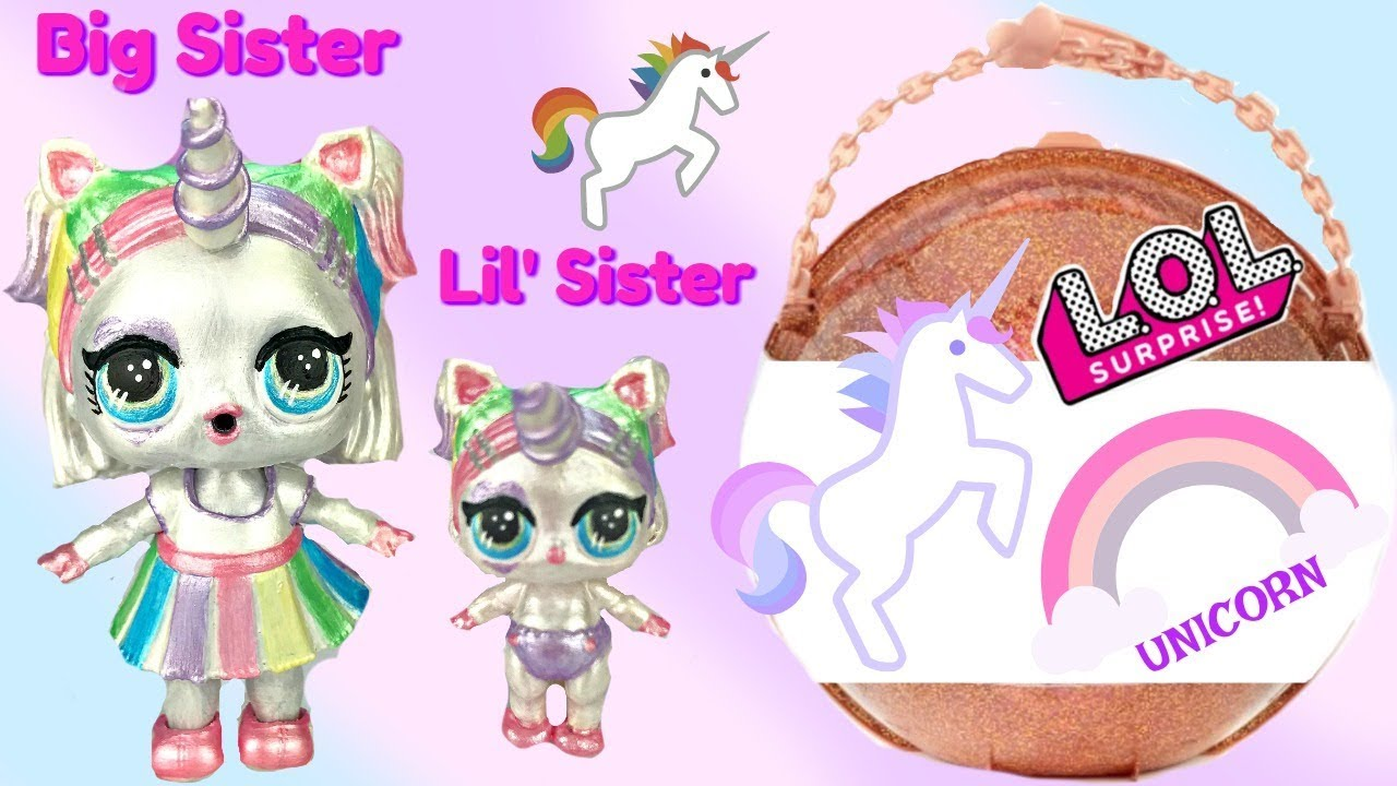 Searching for LOL Big Surprise Magical Unicorn Doll & Lil' Sister