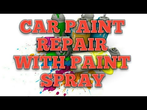 Car paint repair with paint spray  without  compressor