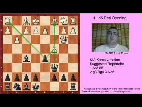 Chess - KIA Keres variation (for black) - 1.Nf3 d5 2.g3 Bg4 3.Ne5