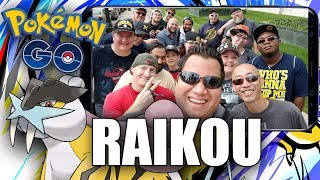 LEGENDARY BEAST RAIKOU RAID IN DETROIT! FIRST EVER FAN MEETUP PART 1! Pokémon GO Gen 2 EP38