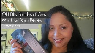 OPI Fifty Shades of Grey Mini Nail Polish Review+ Swatches Thumbnail
