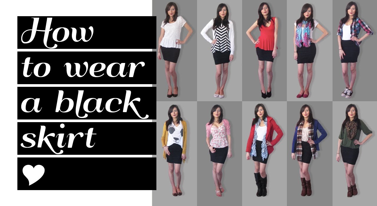 Lookbook: How to wear a black skirt 10 outfit ideas - YouTube