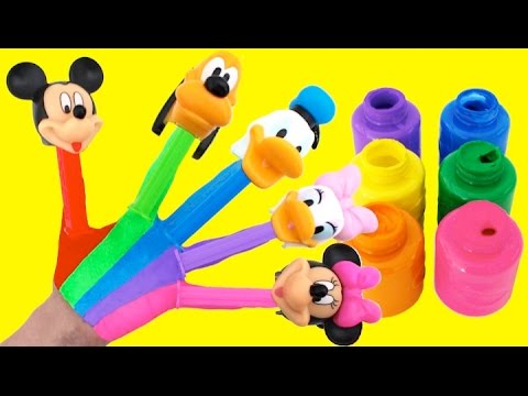 Thumbnail: Learn Colors for Kids Body Paint Finger Family Nursery Rhymes PEZ Mickey Mouse Clubhouse RL