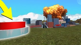 BLOWING UP THE ROBLOX JAILBREAK CITY..
