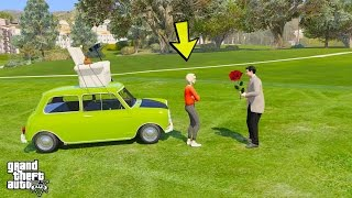 MR BEAN GOES ON A DATE WITH LANA ! (GTA 5 Mods For Kids Funny Moments)