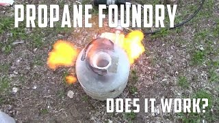 Propane Forge/Mini  Foundry EP2 | Building the Foundry - Does it Work | Driveway