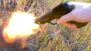 EKOL Special 99 Blank Pistol - Firing Tests Slow Motion