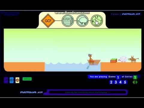 Wolf Sheep&CabbageWalkthrough(เฉลยเกมพาหมาป่าแกะและกะหล่ำปีข้ามแม่น้ำ)