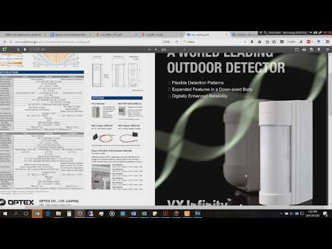 Optex Vxi And Takex Ms 12fe Outdoor Pirs Youtube