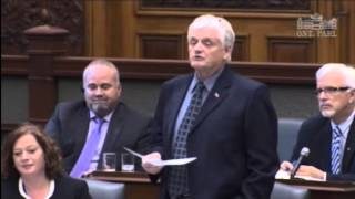 MPP Barrett - Question to Minister Leal re Hydro 1 Sale 26.10.15