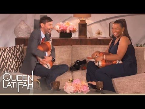 DJ Qualls Gets Comfy on Queen Latifah's Couch