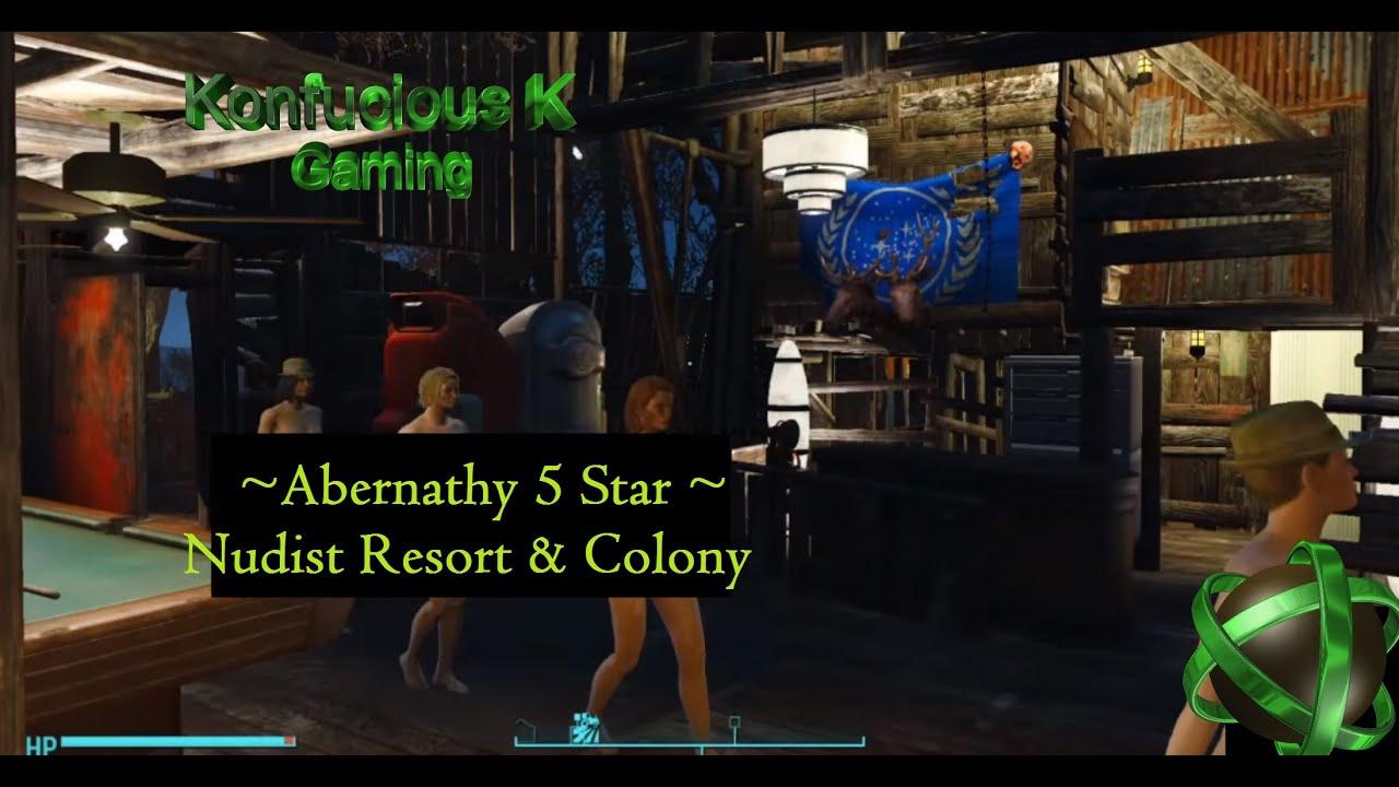 Fallout 4 - Nice Abernathy Settlement (Nudist Resort)