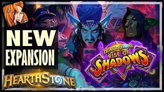 RISE OF SHADOWS NEW EXPANSION! Cards and Gameplay - Hearthstone
