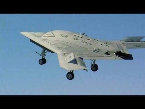 Northrop Grumman - X-47B UCAS First Carrier-Based Flight + Touch & Go + Arrested Landings [720p]