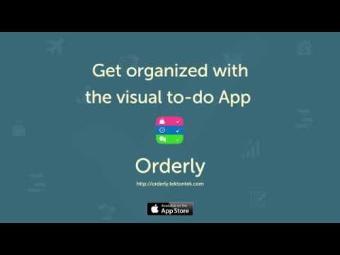 Orderly Visual To-do App for iPhone with Location Based Reminders