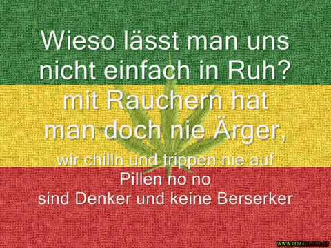 Ganja Man- Ich rauch mein Ganja  (text)