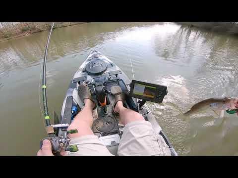 Kayak Bass Fishing Saluda River S.C.