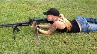 lil red danger shoots the full auto belt fed m 60