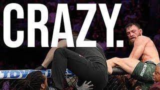 FOOTAGE OF BRAWL after Conor McGregor vs. Khabib Nurmagomedov FIGHT (UFC 229)