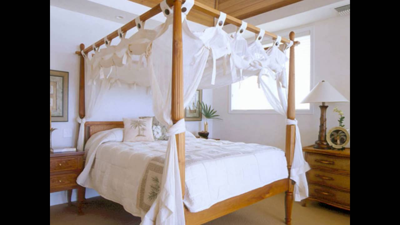 Bamboo Four Poster Bed & Bamboo Four Poster Bed - YouTube