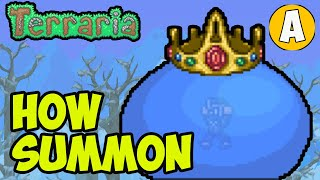 Terraria 1.4.2 How T๐ Summon King Slime (2021) (3 WAYS) | Terraria how to get King Slime spawner