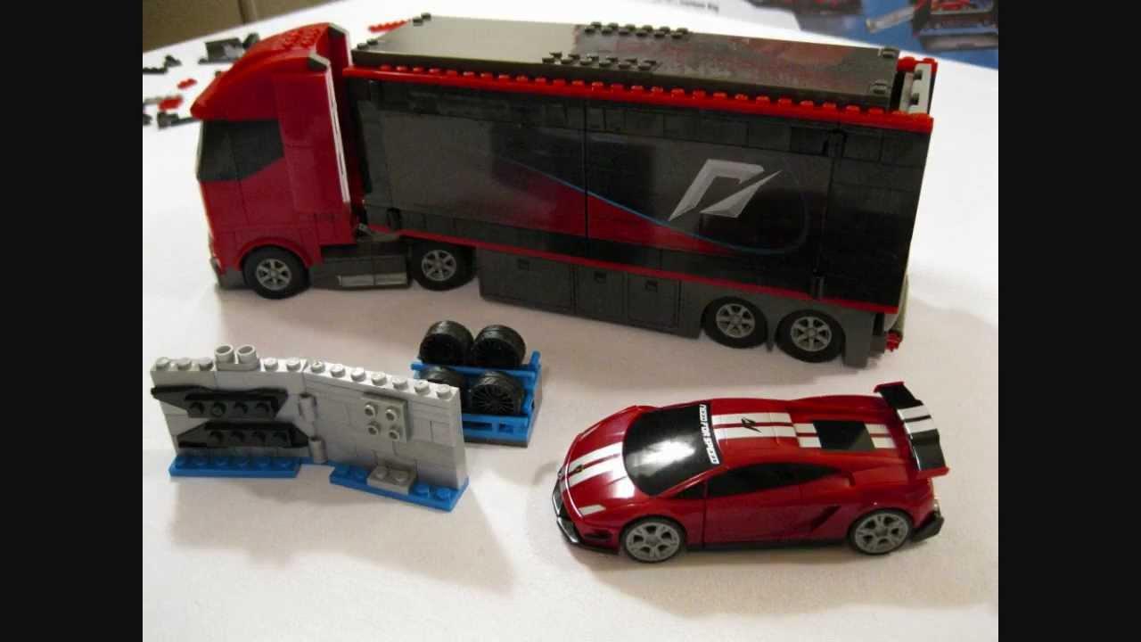 HD Building Mega Bloks Need For Speed Custom Rig And Lamborghini Set 95760