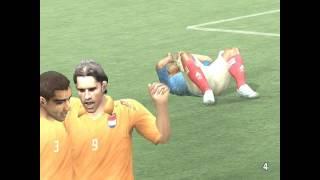 UEFA EURO 2008: France vs Holland - 1st half (pc gameplay)