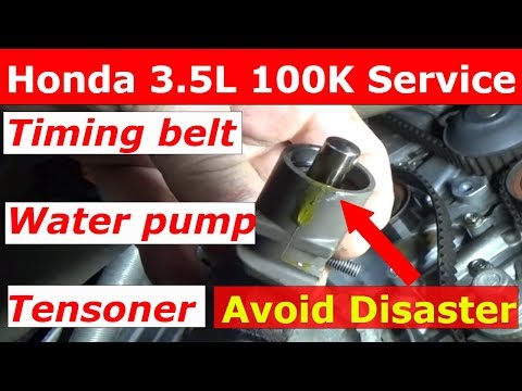 Honda 3.5 Timing belt and water pump 100k Service