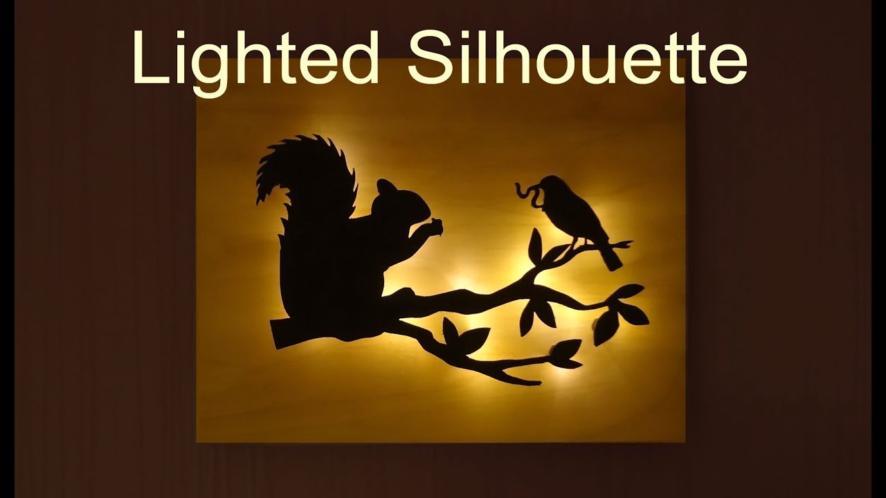 Scroll Saw Silhouette Night Light // Woodworking