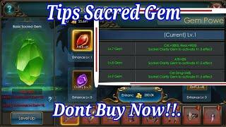 Tips Sacred Gem. Watch it Before Buy GEM ESSENCE . Legacy of discord