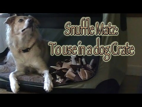 Snuffle Matz - Building Value for the dog CRATE