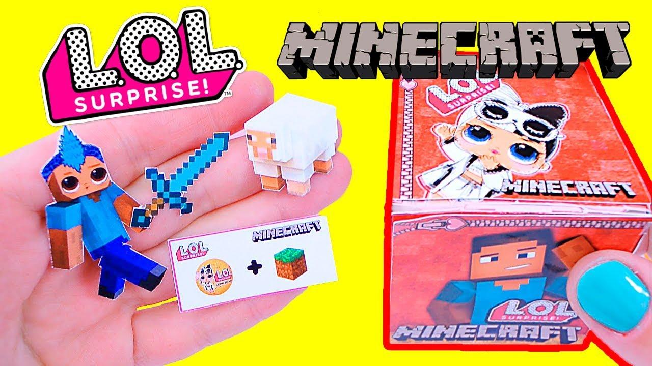Кукла ЛОЛ Майнкрафт для Мальчиков !!?? ♥ Распаковка ...