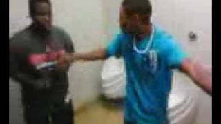 my friends fight in the bathroom