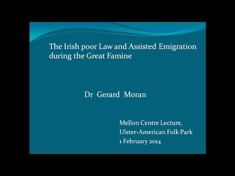 The Poor Law and Assisted Emigration during the Great Famine