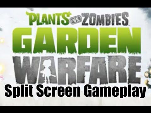 Plants Vs Zombies Garden Warfare Split Screen Gameplay Youtube