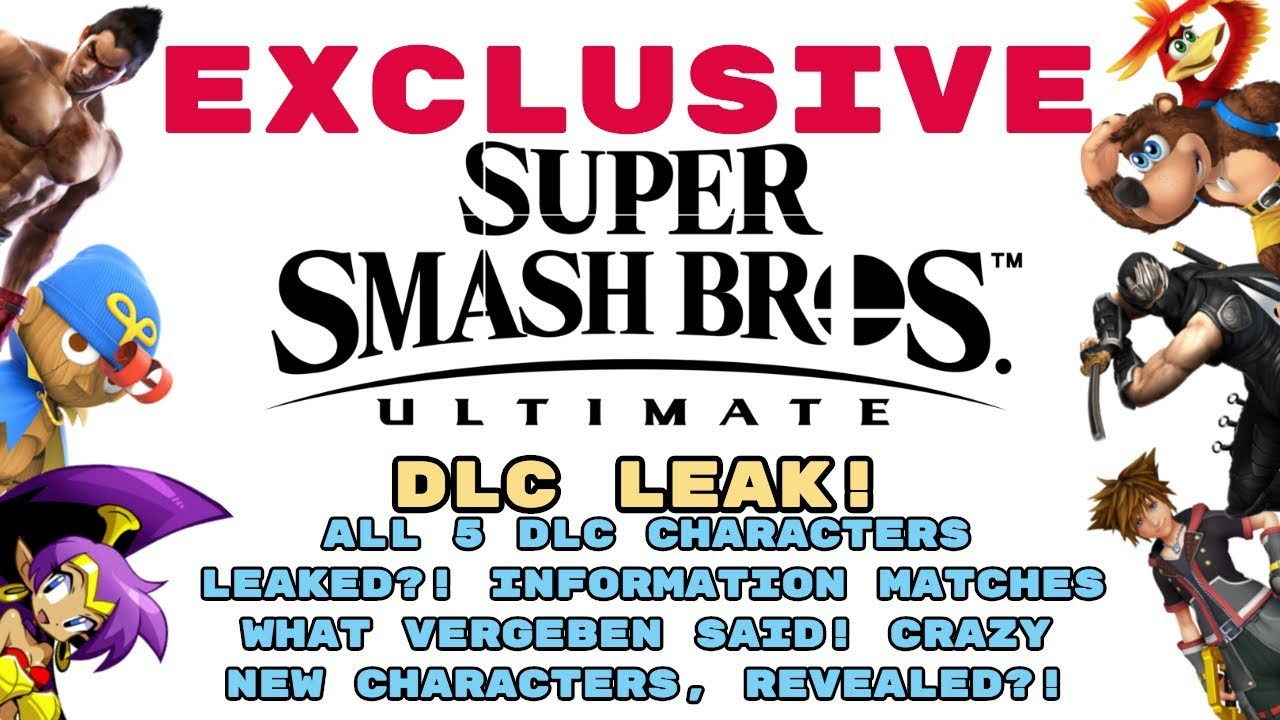 Smash Ultimate All Dlc Characters Leak