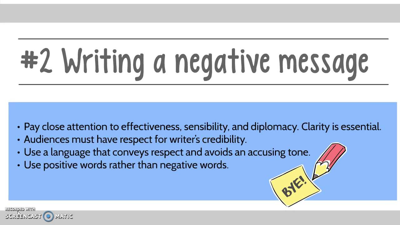 how to write negative message in Memo # 3: negative message assignment: you are the president/ceo of abc industries, inc due to your company's declining performance, you are forced into a merger with your largest competitor, xyz industries, inc.