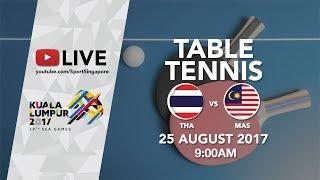 Table Tennis 🏓 Women's Team: Thailand 🇹🇭 vs Malaysia 🇲🇾   29th SEA Games 2017