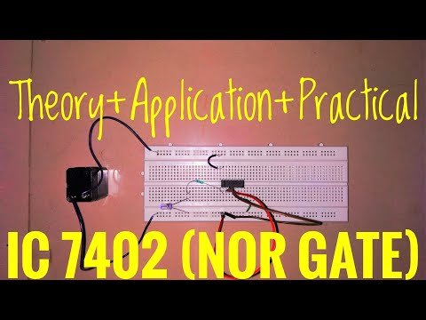 Nor Gate Ic 7402 Diy Logic Gate Simple Complete Explanation