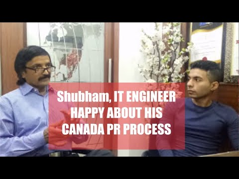 Shubham, IT engineer,Our latest Canadian PR visa got client with Manoj Palwe