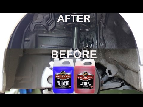 How To Clean & Dress Car Wheel Wells : Meguiars Super Degreaser & All Season Dressing