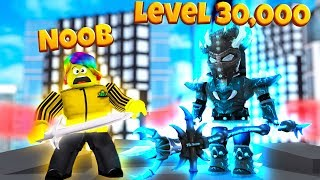 NOOB vs LEVEL 30,000 MAX BOSS (Roblox Slaying Simulator)