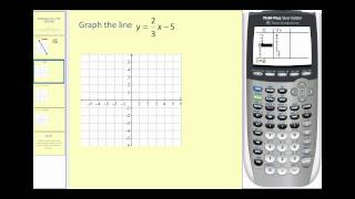 Graphing Lines On The Ti83 Or Ti84