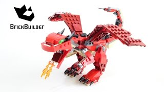 Lego Creator 31032 Red Creatures fire-breathing dragon - Lego Speed Build