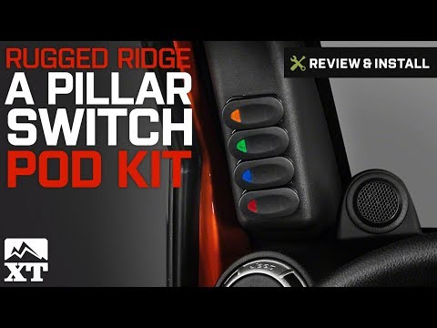 Jeep Wrangler Rugged Ridge Black A Pillar Switch Pod Kit (2007-2017 JK) Review & Install